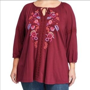 NWT Johnny Was Marcella Peasant Blouse Sz 1X